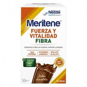 MERITENE Fuerza y Vitalidad Fibra Chocolate