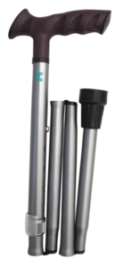 Bastón Muletilla Plegable Extensible Aluminio ACOFAR Gris.