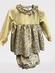 Vestido bebé con braguita pajaritos.