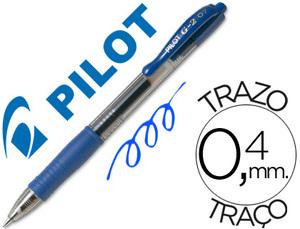 Boligrafo pilot g-2  tinta gel retractil sujecion de caucho