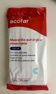 Mascarillas Quirúrgicas ACOFAR tipo IIR