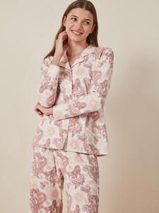 Pijama camisero estampado para mujer de Gisela