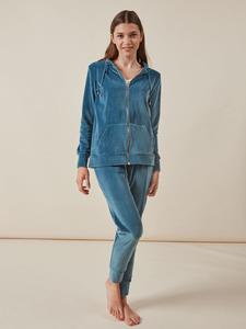 Pijama de terciopelo azul para mujer de Gisela