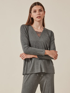 Pijama detalles de encaje para mujer de Gisela
