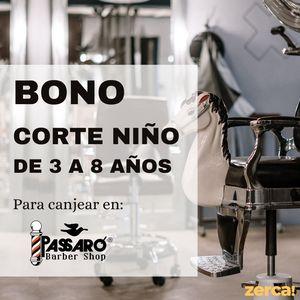 Bono corte niño de 3 a 8 años para CANJEAR EN PASEO ROSALES