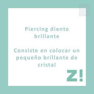 Piercing diente brillantina