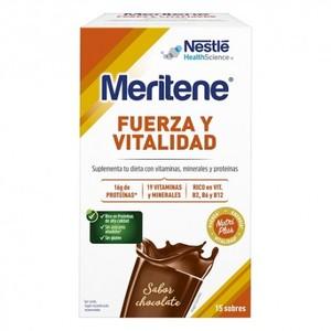 MERITENE Fuerza y Vitalidad Batido - Chocolate - 15 sobres 30g