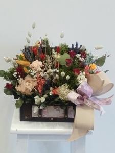 Baul flor preservada