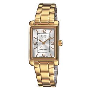Reloj de señora CASIO acero dorado. Analógico