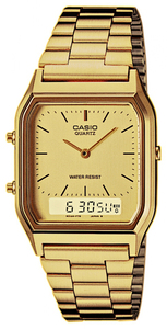Reloj Casio Acero dorado digital y analógico