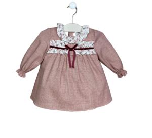Vestido para bebé - Colección granate.