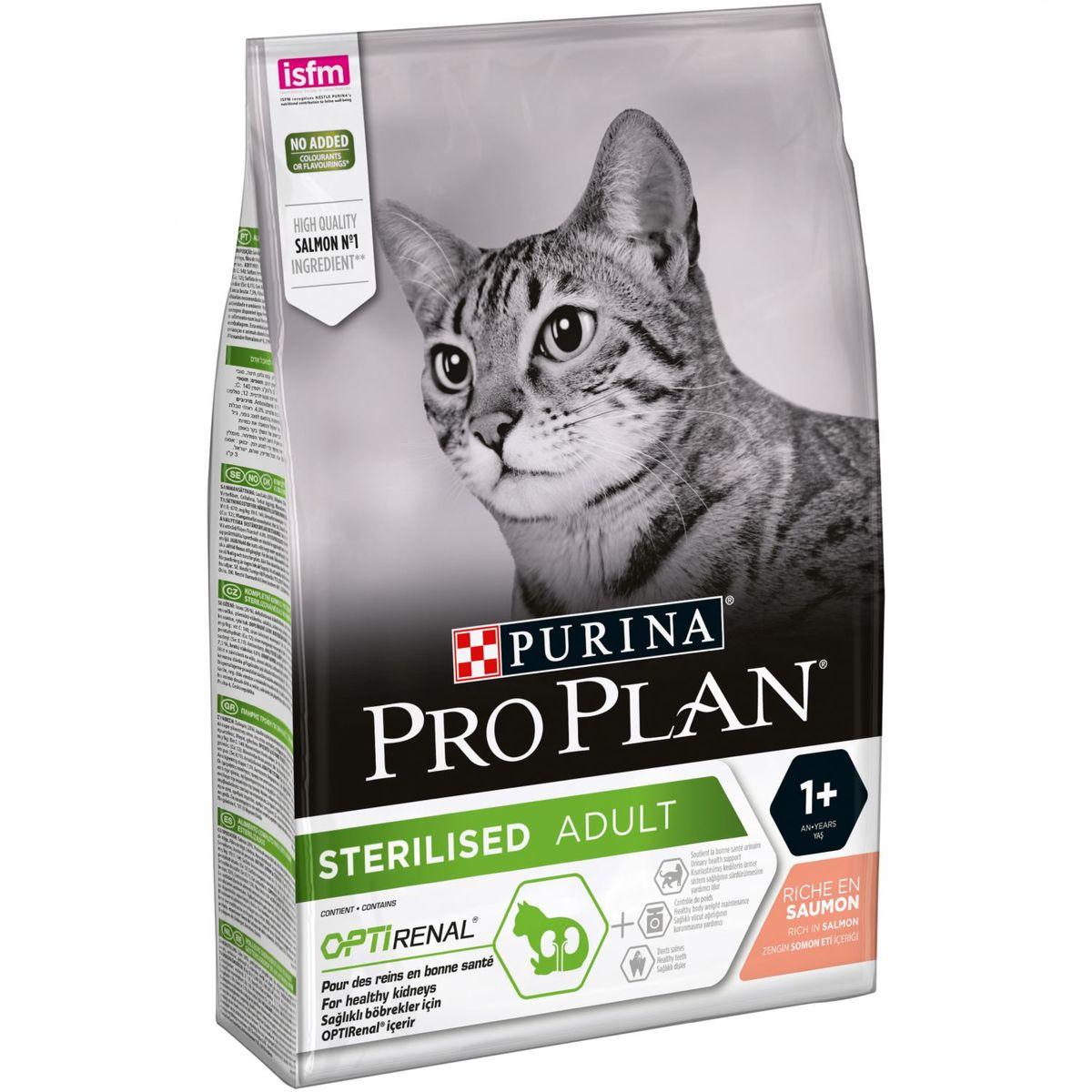 Purina Pro Plan gato sterilised salmón