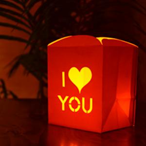 """Bolsas de Papel para Luz con Velas """"I LOVE YOU"""""""