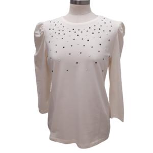 Camiseta perlas blanco