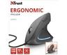 Trust verto - Ratón ergonómico vertical, iluminado, color negro