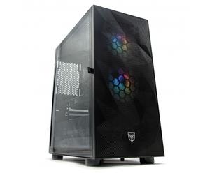 ZONE EVIL Nfortec42 Gold Ordenador Intel i7 10700F 16GB SSD 480GB + 1TB GTX 1650 Wifi Negro