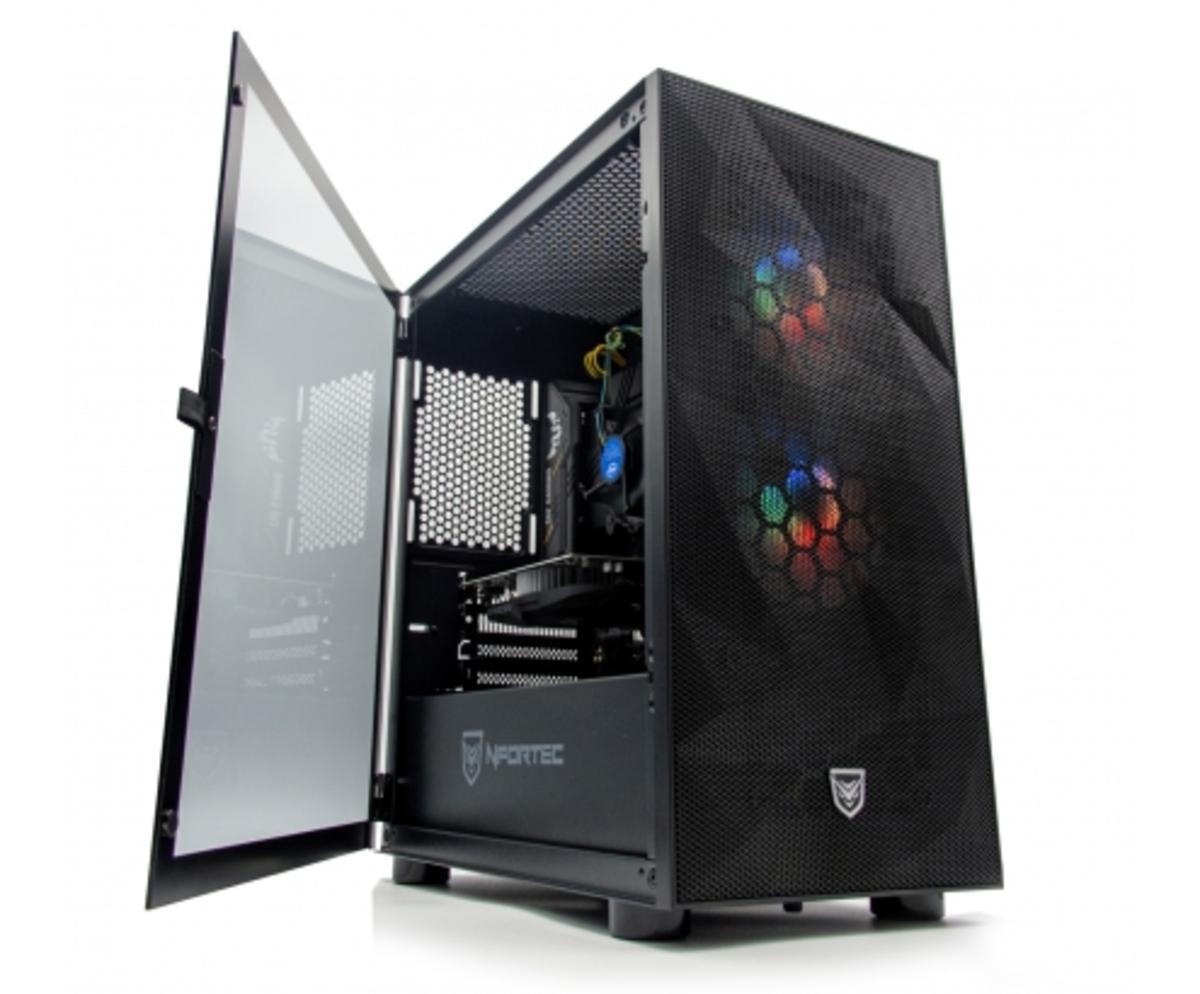 ZONE EVIL Nfortec38 Silver Ordenador Intel i5 10400F 16GB SSD 480GB 1TB GTX 1050 Ti Wifi Negro