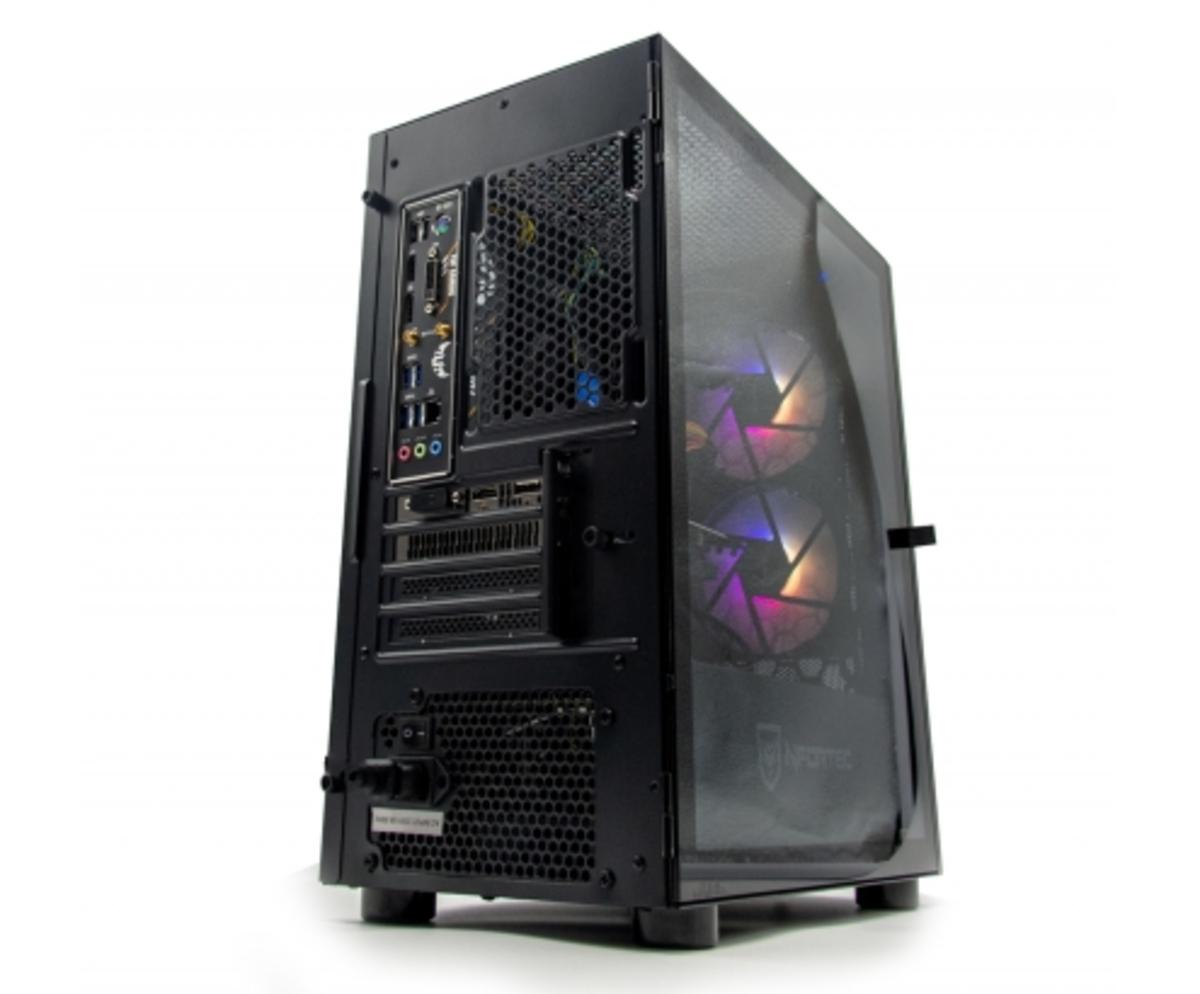 ZONE EVIL Nfortec39 Gold Ordenador Intel i7 10700F 16GB SSD 480GB 1TB GTX 1050 Ti Wifi Negro
