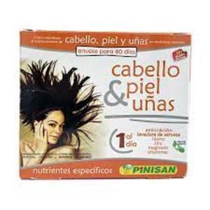 Cabello, piel y uñas. 40 Cápsulas Pinosan