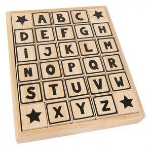 Bloques alfabeto blanco y negro
