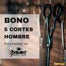 Bono 5 cortes caballero (pelo corto) para canjear en Passaró Magaly