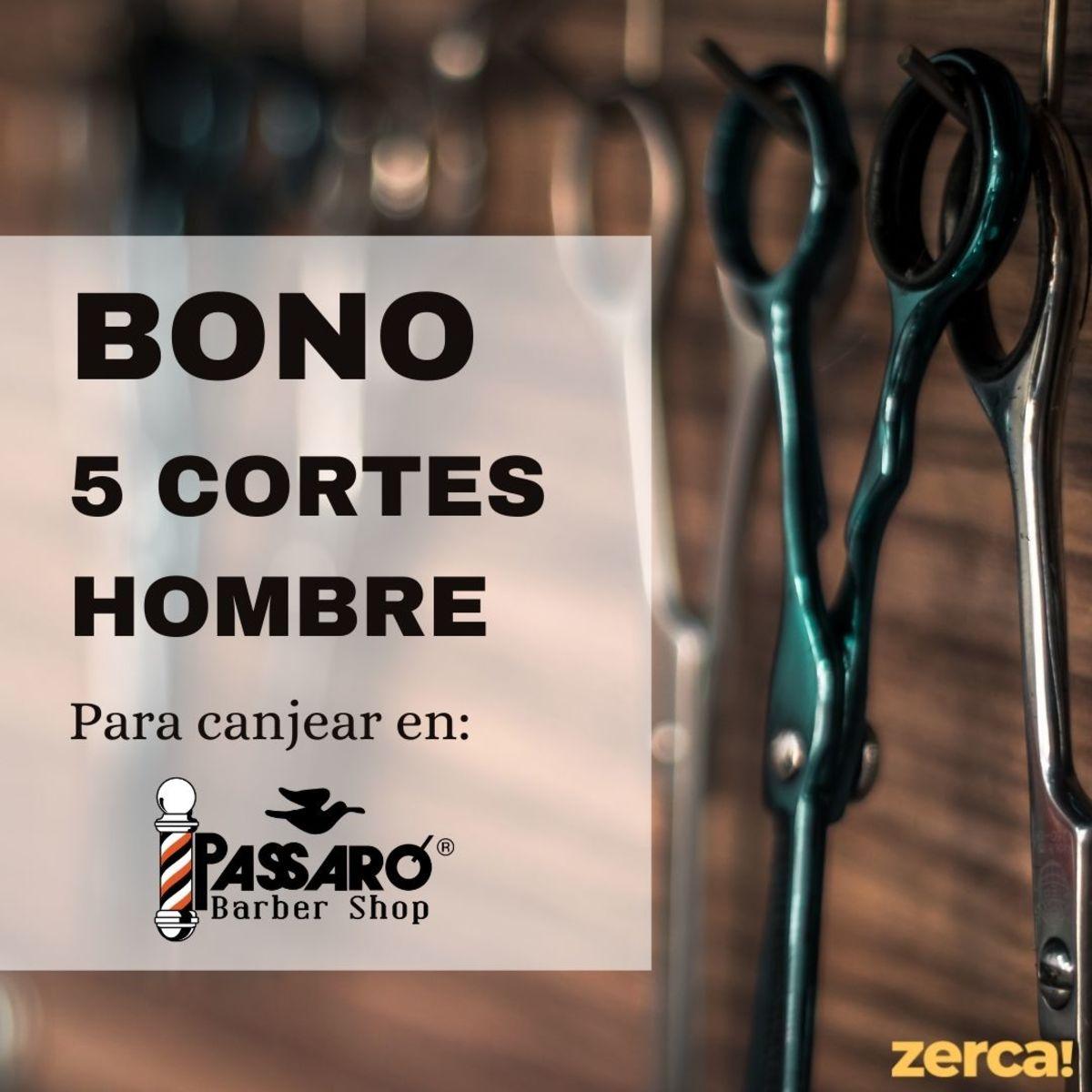 Bono 5 cortes caballero (pelo largo) para canjear en Passaró Magaly