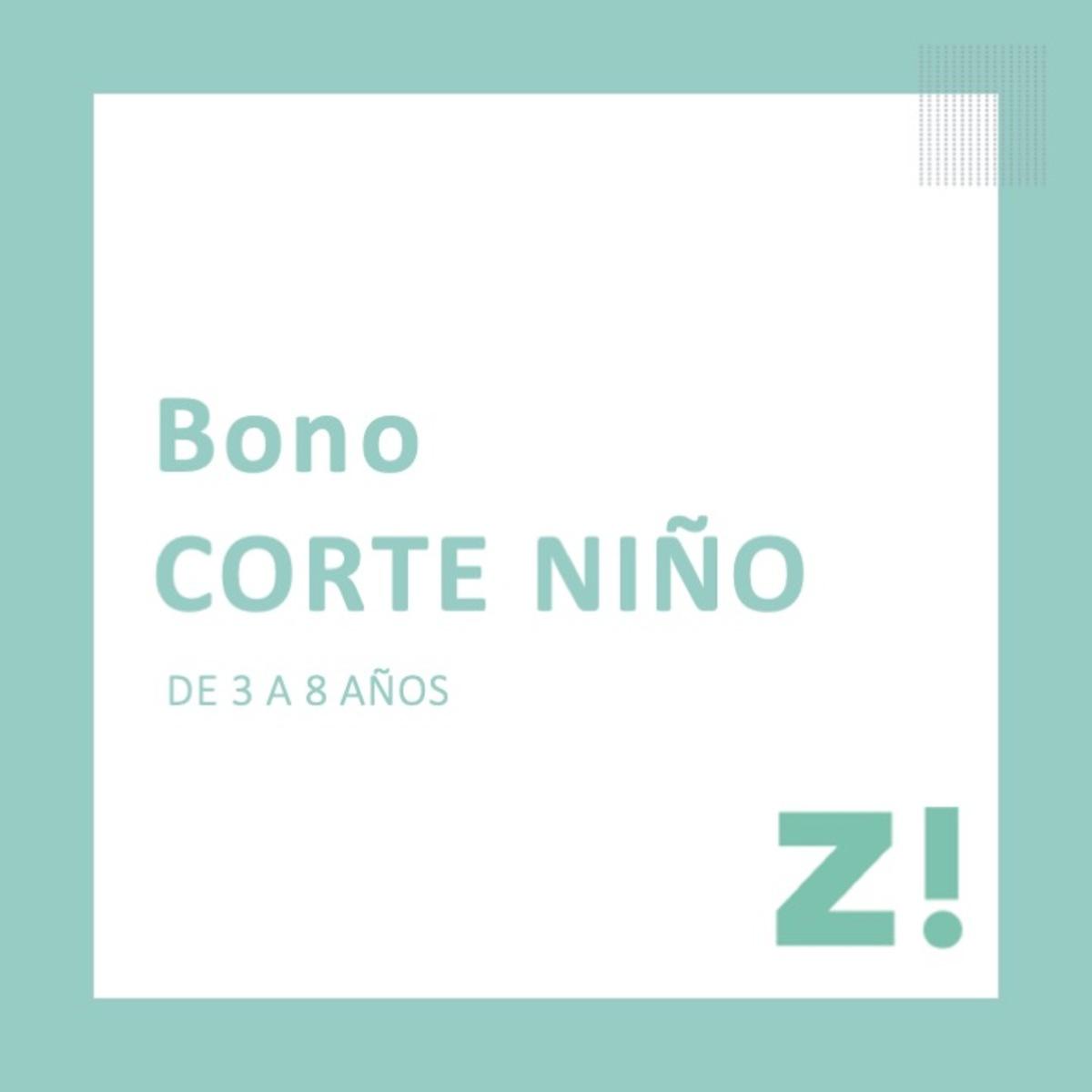 Bono corte niño PARA CANJEAR EN PASSARÓ PLAZA SAN BRIZ