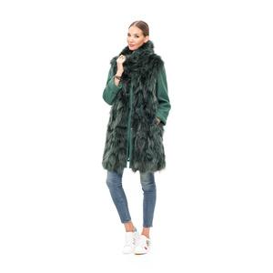 Abrigo de zorro con lana