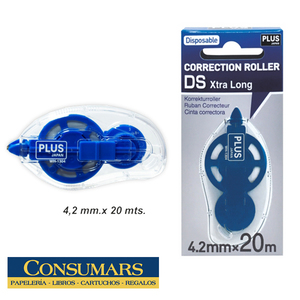 Corrector cinta PLUS (20 mts)