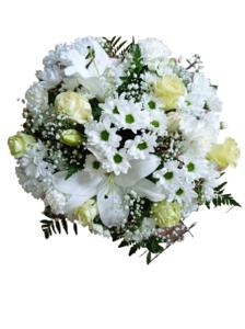 Centro de flores redondo de mesa