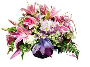 Cesta de flores silvestre de lilium