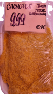 Cachopos de ternera asturiana + jamón de Teruel + queso Gouda