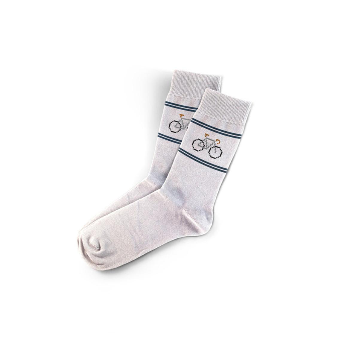 Calcetines Retro Fixie Blancos
