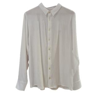 Camisa blanca en gasa de algodón - Hombre