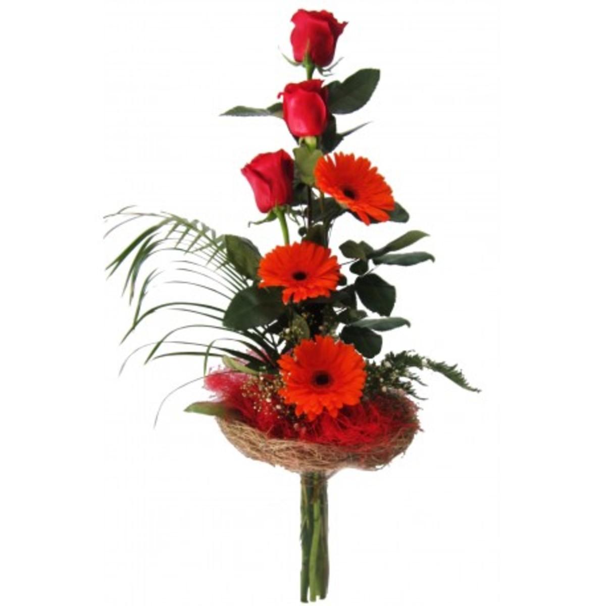 Chapeau Rosas y gerberas