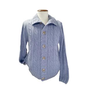 Chaqueta Botón con bolsillos Azul Celeste