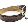 Cinturón de Piel de Cocodrilo Fabricación Española