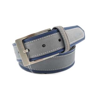 Cinturón Tagar Piel Vacuno Azul/Gris