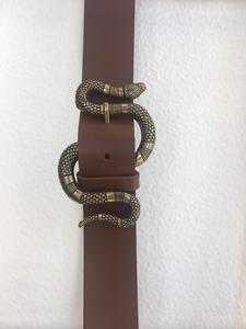 Cinturón serpiente marrón