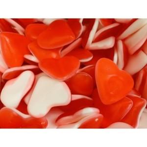 Corazón nata-fresa brillo pack de 250 grs