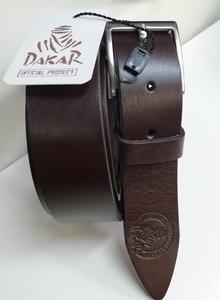 Cinturón Dakar Marrón de piel. Talla grande 1,40m. de cintura