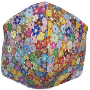 Mascarilla de Tela - Flores Multicolor