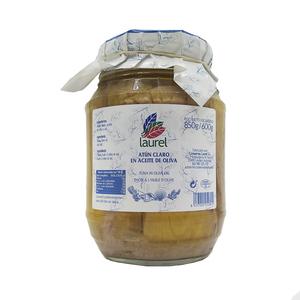 Frasco de atún claro en aceite de oliva - Laurel