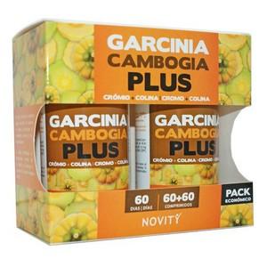 GARCINIA CAMBOGIA PLUS 60+60 comprimidos. Novity
