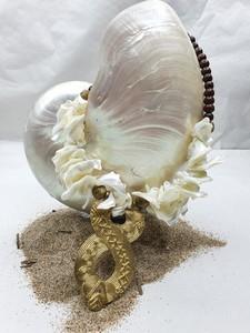 Gargantilla conchas y bronce