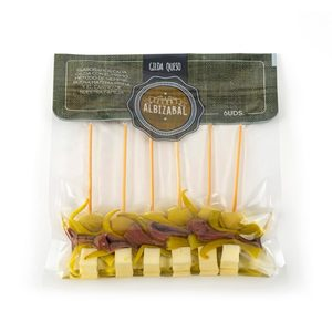 Gildas ALBIZABAL de anchoa con queso. 6 unidades.