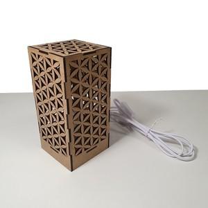 Lámpara de diseño decorativa. Diseño 'Flor de la Vida'