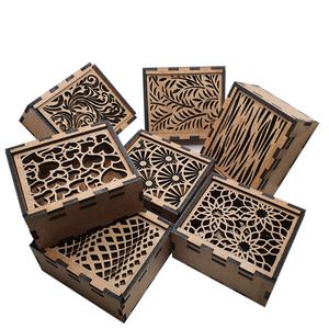 Cajitas de madera con tapa deslizante