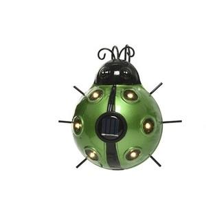 Lámpara mariquita luz solar led ip44 color verde