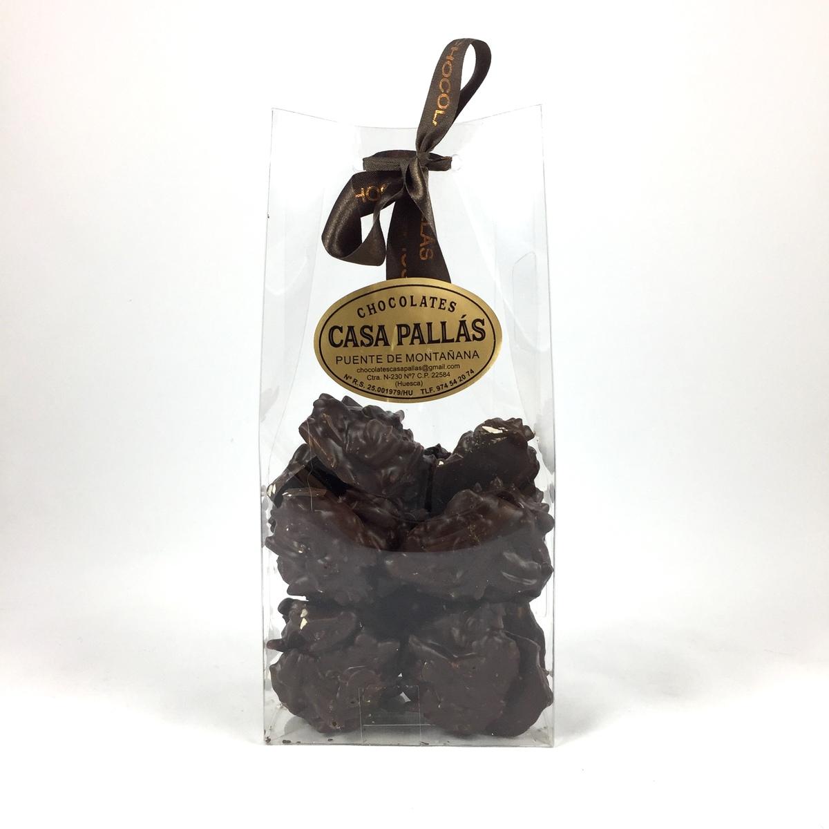 Rocas de chocolate negro y almendra Pallás